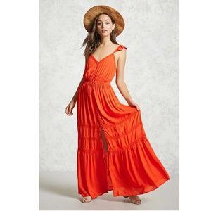 NWT Forever 21 Crochet Trim Maxi Dress